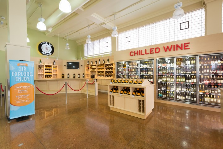 """The 154-unit BevMo retail chain debuted a newly remodeled San Francisco flagship store in July featuring the """"Next Generation"""" layout and a beer tasting area."""