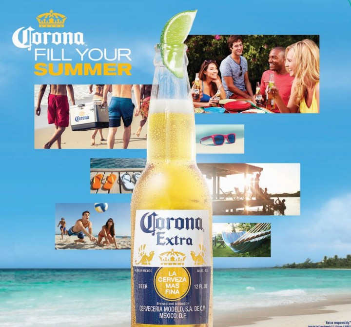 Marketing for Constellation's top beer brand, Corona, continues to emphasize warm-weather fun with