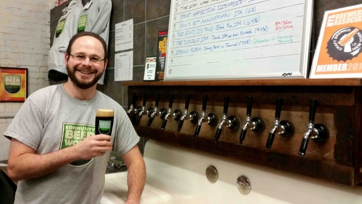Community Beer works cofounder Rudy Watkins has helped bring local beer options to a city that already loved craft brews.