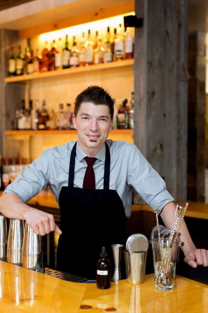 At Pine restaurant in Hanover, New Hampshire, bartender James Ives aims to educate his guests.