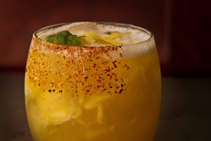 The Little Market cocktail at Mercadito is made with Olmeca Reposado Tequila, pineapple, chili, cilantro and Pico Piquin spices.