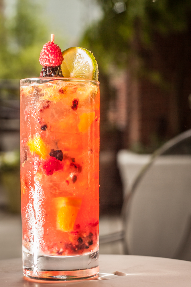 The Berry White sangria at Hudson's Sky Terrace takes a mixological approach to the traditional drink