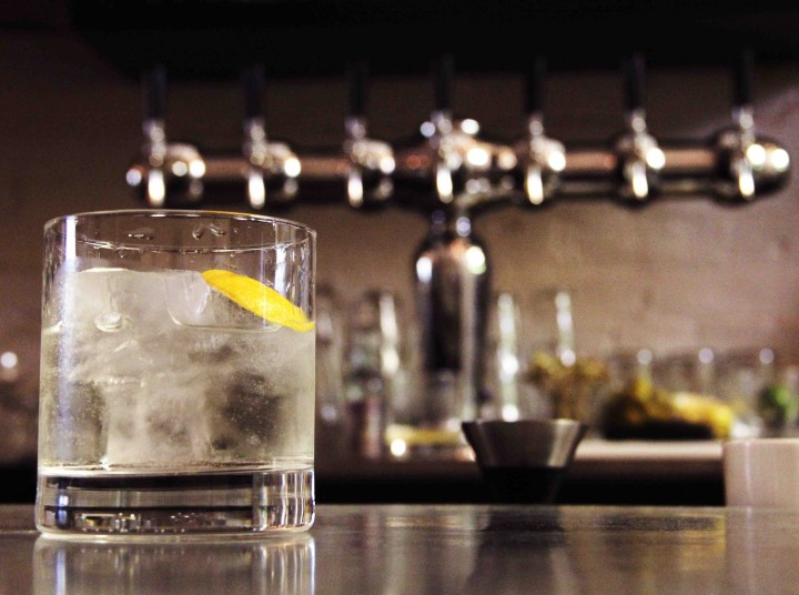 Iron Gate features a Mediterranean-influenced cocktail menu with signature drinks like the Negroni Bianco.