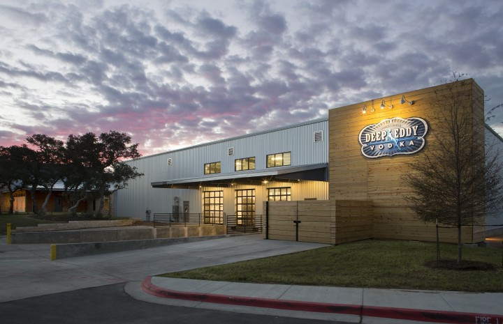 Domestic vodka brands like Texas-based Deep Eddy (distillery pictured) are offering flavored variants, such as Deep Eddy Ruby Red, that can be enjoyed on the rocks or with simple mixers like club soda.