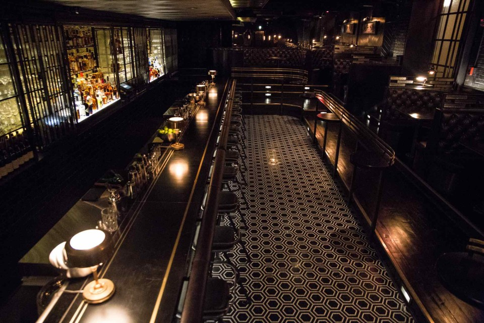Denson Liquor Bar in Washington, D.C., has an art deco vibe to match its classic drinks.