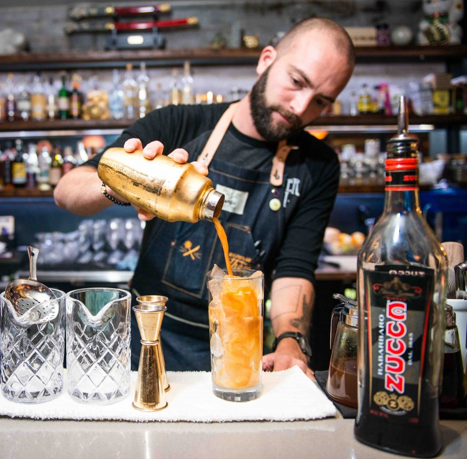 Joshua James, bartender and co-owner at the Clever Koi in Phoenix, features amaro cocktails like the top-selling Temperance Trap.