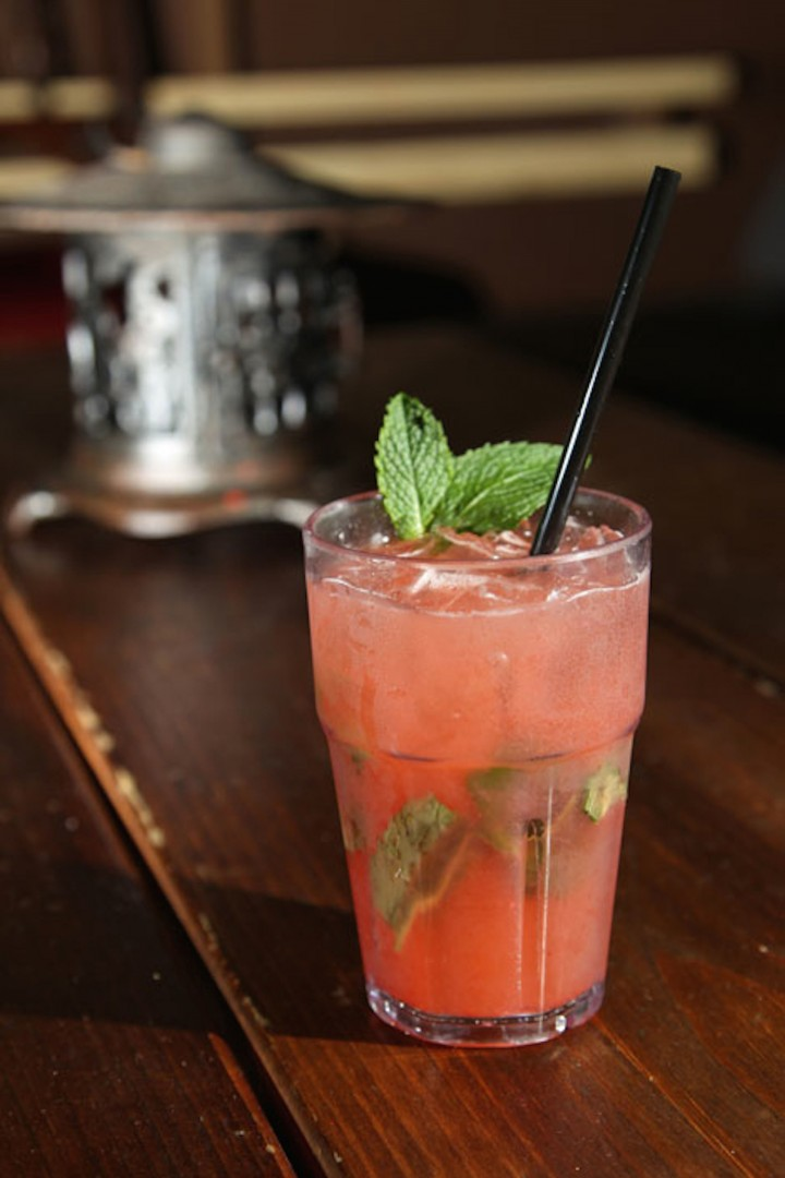 The Red Ginger at Radio Bar in Miami mixes Flor de Caña Grande Reserve 7-year-old rum with strawberry, lime juice, ginger beer and mint.