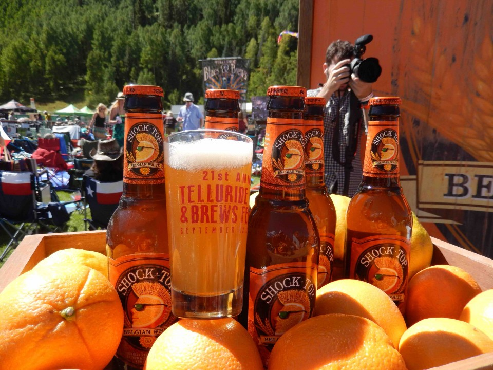 A-B's wheat beer brand Shock Top regularly introduces new flavors exclusively at beer festivals.