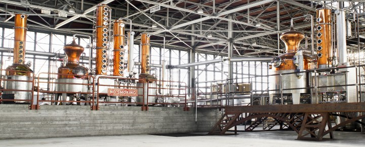 St. George Spirits operates out of a 65,000-square-foot hangar in Alameda, California.