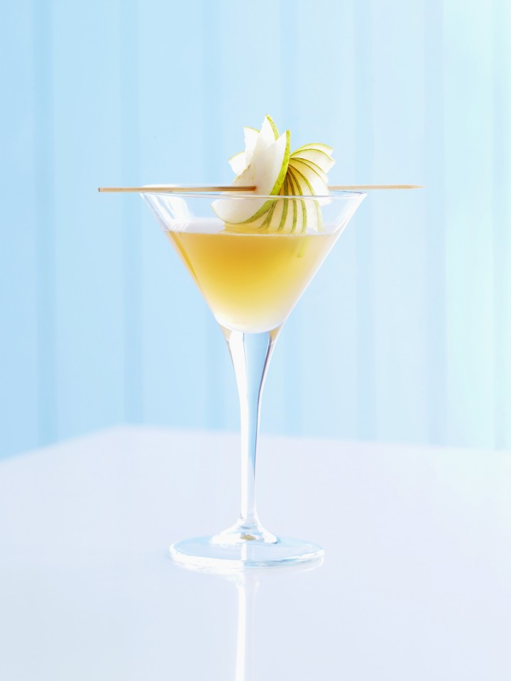As the sake category grows in the United States, many consumers are opting for sake-based cocktails like the Haiku (pictured), which features sake, vermouth and nashi pears