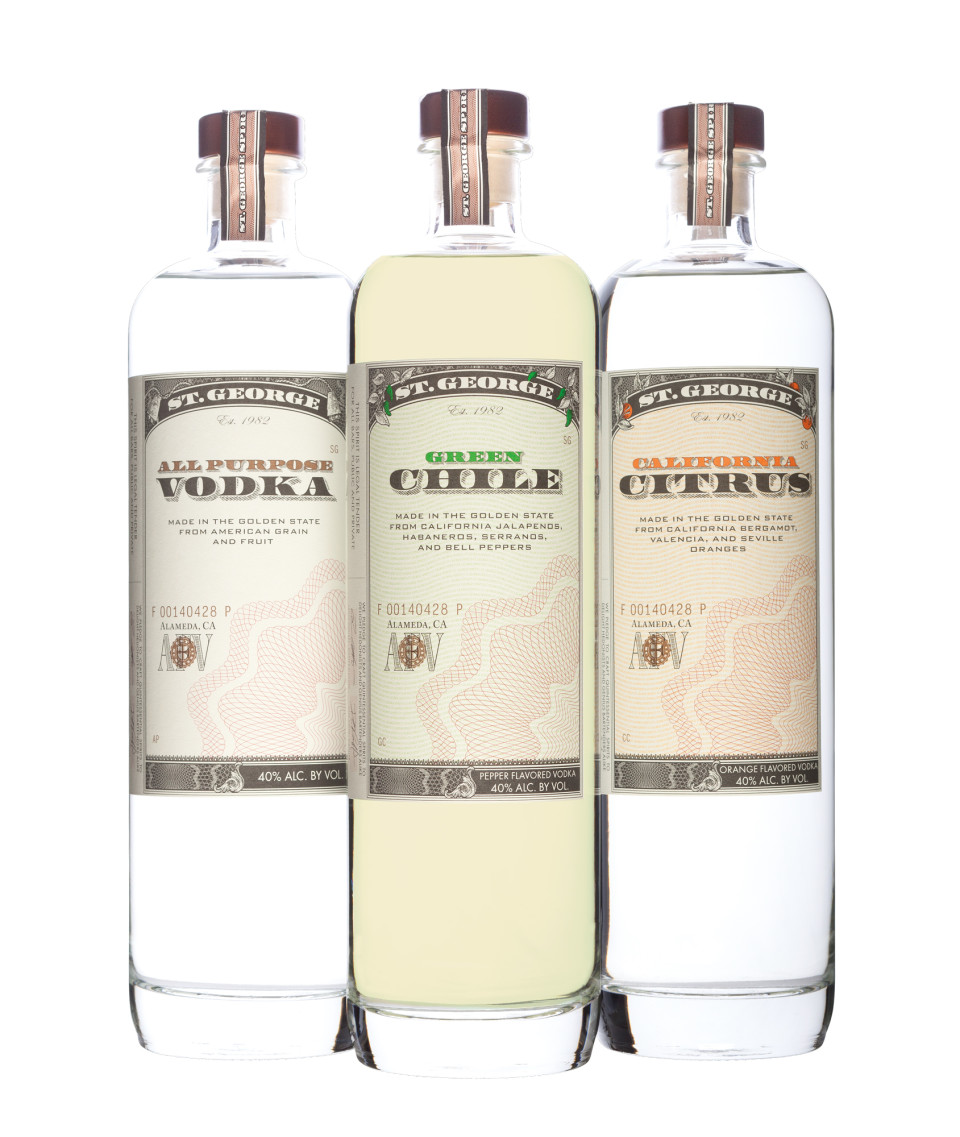 St. George launched three new vodka expressions in March.