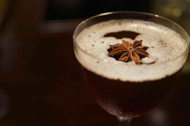 The Winter Waltz at Arnaud's restaurant in New Orleans combines Bulleit rye whiskey with Averna amaro, allspice dram and aromatic bitters. The amaro's sweet and bitter flavors balance the rye spice.