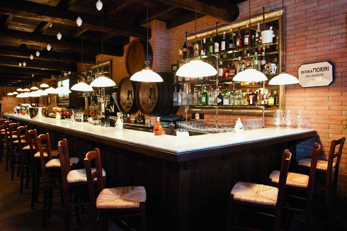 The three-location Osteria Morini (SoHo bar pictured) offers rustic dishes from Italy's Emilia-Romagna region.