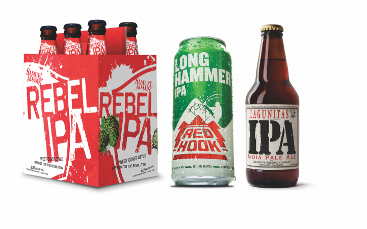 Samuel Adams Rebel IPA and Redhook Long Hammer IPA both aim to bring new drinkers into the segment, while Lagunitas, an early IPA pioneer, has built its reputation on the beer style.