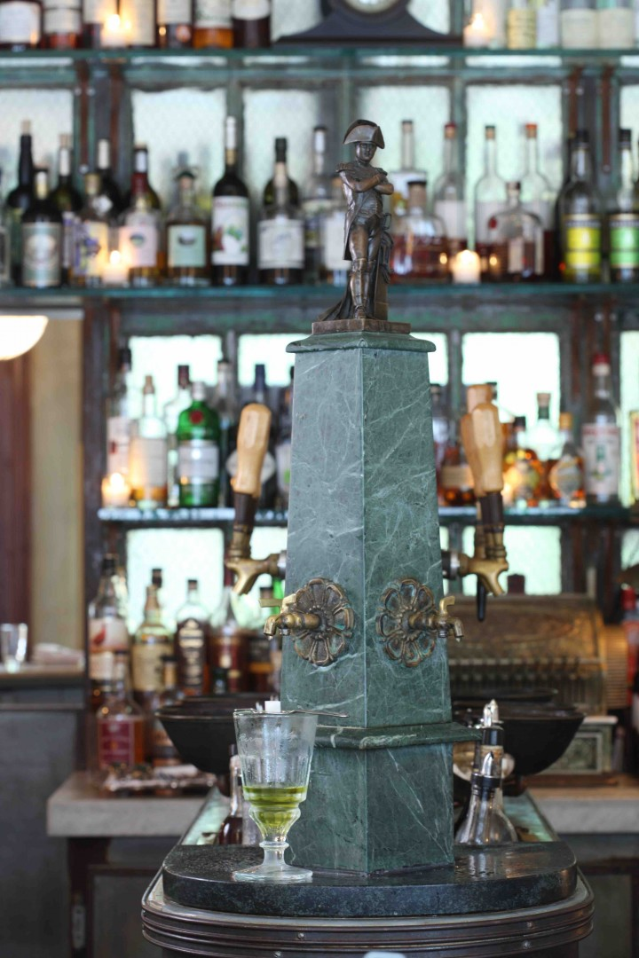 Maison Premiere in Williamsburg features a working replica of the fountain once found in New Orleans' Olde Absinthe House.
