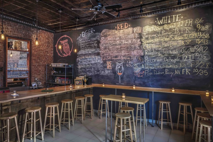 The Owl's Head wine bar in Bay Ridge has a rotating variety of unusual wines and offers a locally made house blend, The Owl's Red.