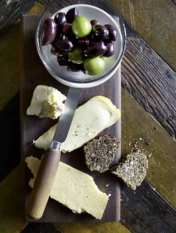 The beer bar Tørst offers Scandinavian-inspired snacks from its back-room restaurant Luksus, like house-made rye bread with farmer's cheese.
