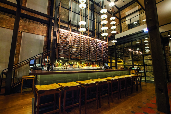 Renowned for casual fare like pizzas and hot dogs, Chicago's dining scene has never been more modern and innovative. Chic venues like the Japanese restaurant Momotaro (above) aim to push dining boundaries.