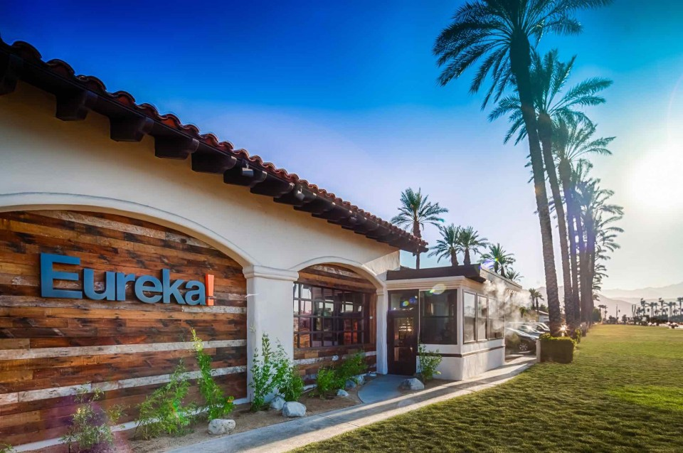 Eureka targets discovery markets when opening new units, like siting its Berkeley restaurant near the University of California. The Indian Wells location (pictured) sits in SoCal's Coachella Valley, home to the famed music festival.