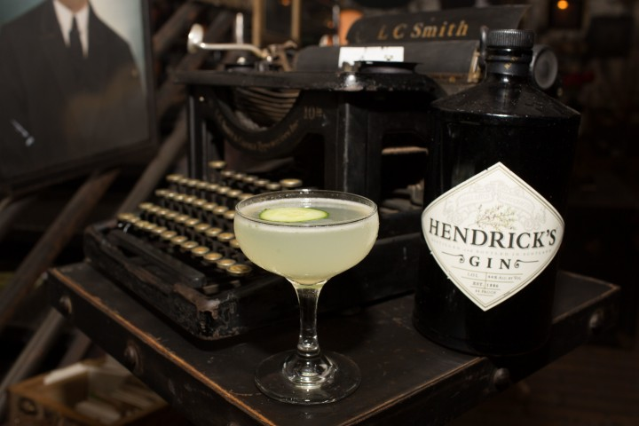 Summer cocktails often use fresh produce to play to the base spirit's strengths, like the cucumber notes in Hendrick's gin.. The Hendrick's Cucumber Southside features Hendrick's, fresh lemon juice, simple syrup, cucumber and mint.