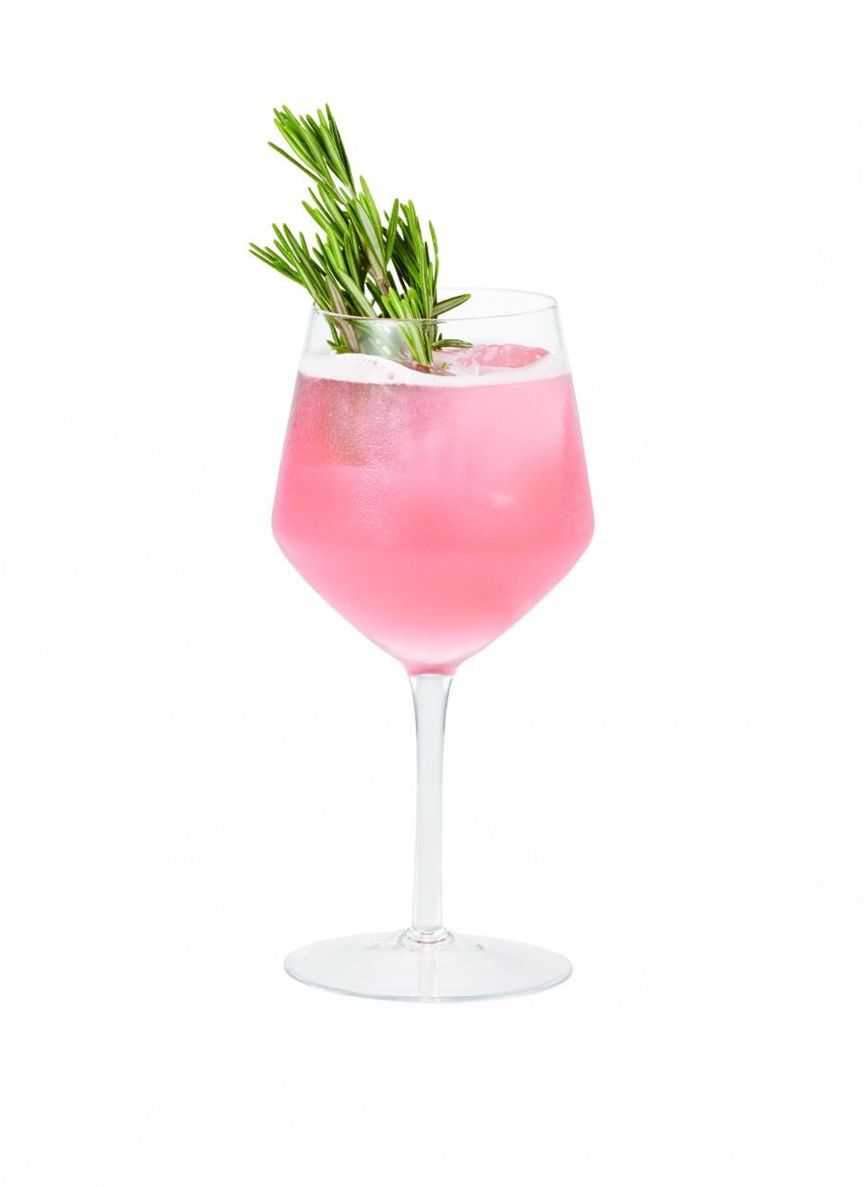 Fresh herbs are often used in summer drinks like the Rosemary's Garden, made with passion fruit and cranberry liqueur, gin, sparkling wine and rosemary.