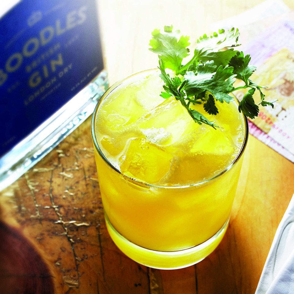 Many bartenders turn to juices and soda water to refresh drinkers during the hot days of summer. The Gin & Gomme blends Boodles gin, mango purée, pineapple and lemon juices.