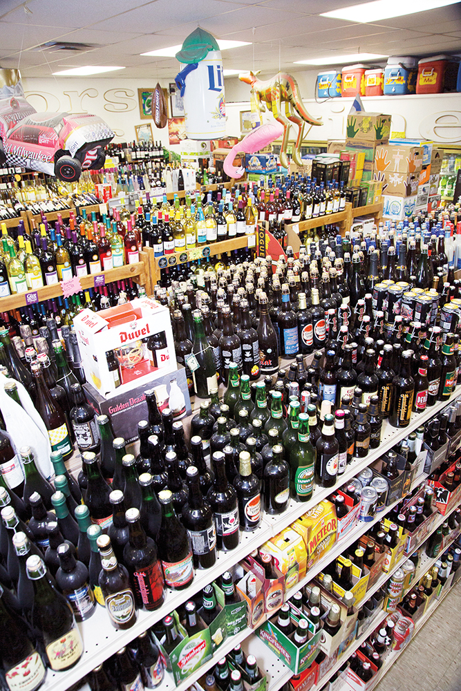 Tempe, Arizona's Tops Liquors derives about half of its business from beer, both from the in-house Taste of Tops bar (pictured) and the selection of around 2,000 beer SKUs.