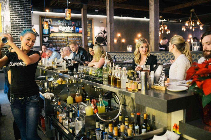 Eureka Restaurant Group (Dallas location pictured) takes pride in its all-American menu, which originally focused on burgers and beer. The concept has since expanded to include more entrée and appetizer options, as well as cocktails and small-batch whiskies.