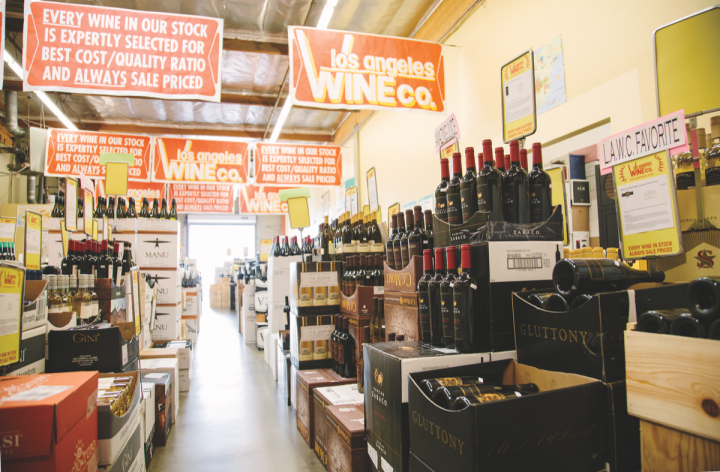 Founded in 1982, Los Angeles Wine Co.  embraces a warehouse-style model, with deep discounts and just 400 SKUs. The two-unit retail outlet has locations in Los Angeles and Palm Desert, California.