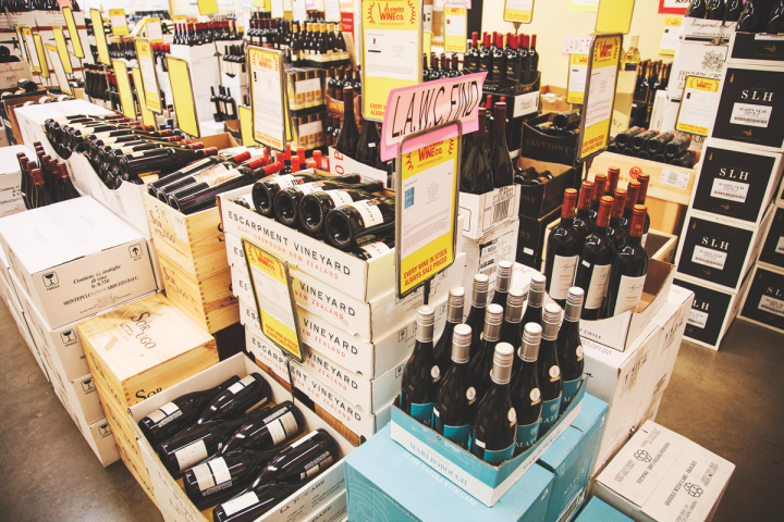 Tasting notes and scores play a prominent role at Los Angeles Wine Co. Most wines are displayed alongside multiple reviews, both positive and negative. American, French and Italian labels dominate the inventory, which turns over once a month on average.