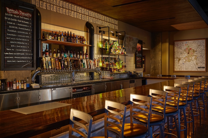 The four-unit Public School gastropub serves Belgian beer in tulip glasses that enhance aroma and effervescence.