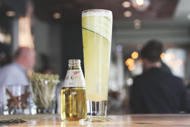 Stanton's The Misunderstood Cocktail is made with Tequila, mezcal, ginger syrup, honey, cucumber, lime juice and beer.