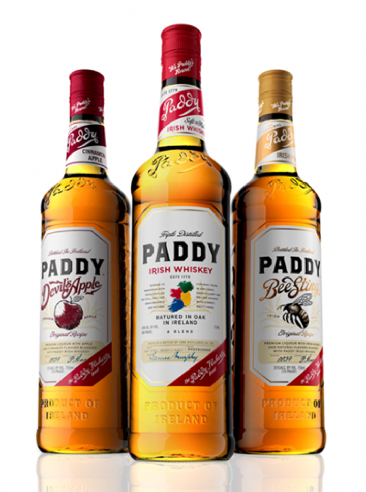 Pernod Ricard's Paddy Irish whiskey extended the brand through the flavored variants Devil's Apple and Bee Sting in 2013.