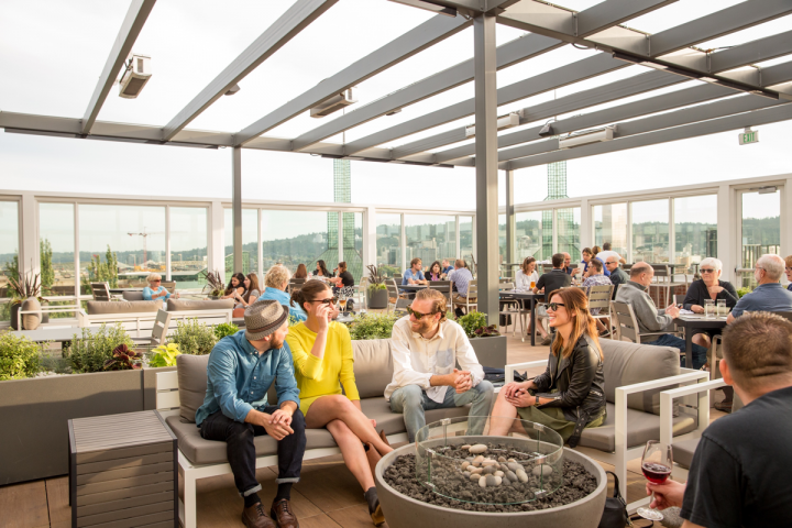 Altabira City Tavern pairs food and drink atop Portland, Oregon's Hotel Eastlund.
