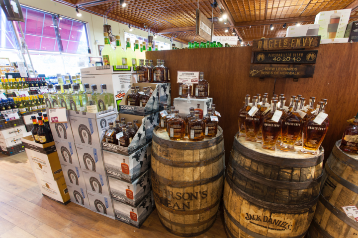 Stew Leonard's Wines features about 500 spirits SKUs. Whiskies, especially Bourbon, are hot.