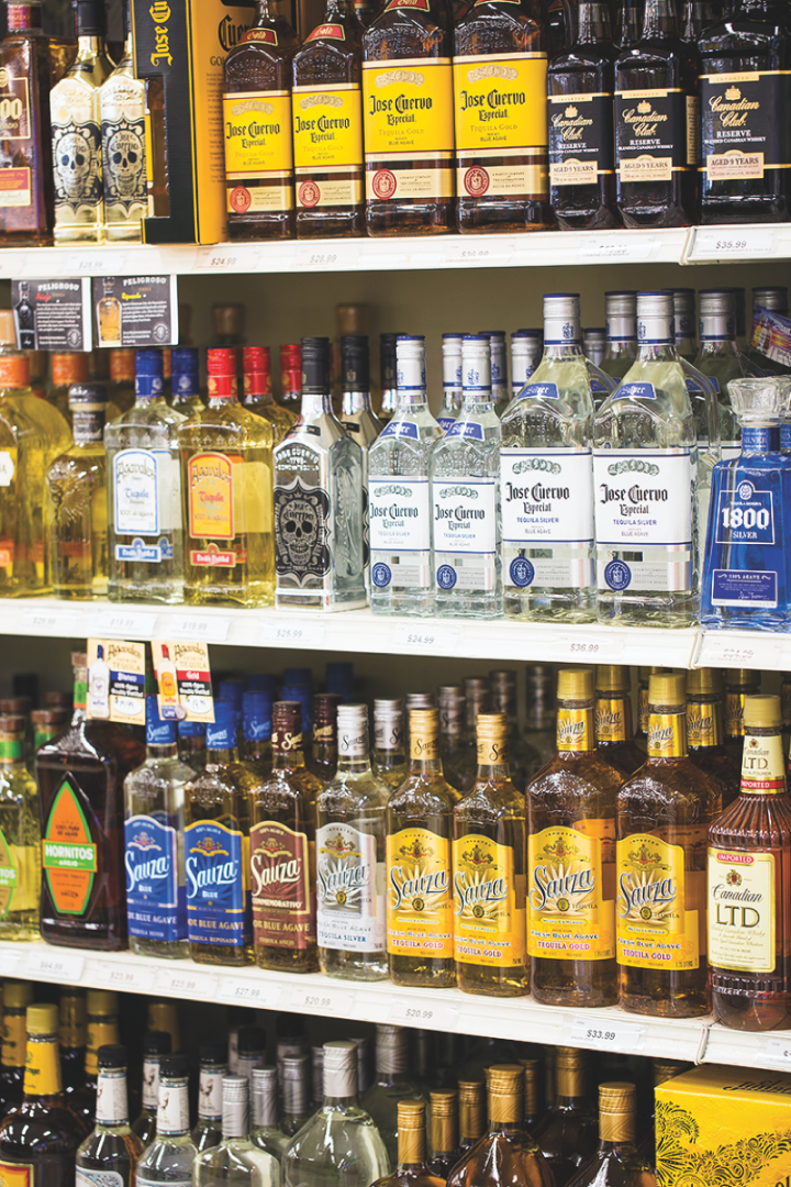 Spirits account for 30 percent of sales, with brown spirits and craft offerings doing particularly well.