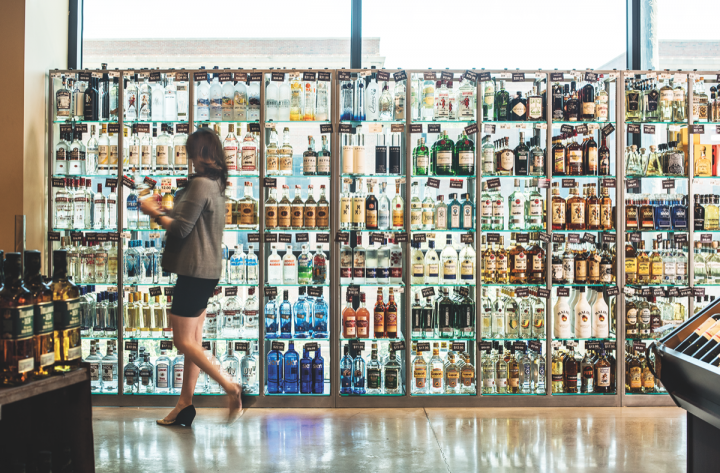 Mariano's does a bustling spirits business, with premium vodkas and whiskies selling well.