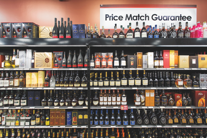 Spirits drive 30 percent of sales, led by high-end offerings such as single malt Scotch whisky, Cognac and aged Tequila.