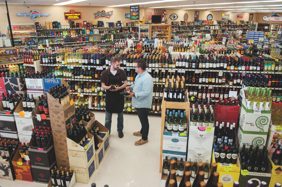 Cap n' Cork stores range from 2,000 to 5,500 square feet, and the owners target 4,000 for most locations. The company has 115 employees, and each unit staffs two workers at a time, with one on the sales floor and one behind the register.