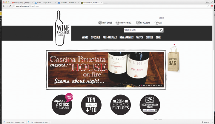At Wine Exchange in Santa Ana, California, the online business—which generates around 75 percent of revenue—eclipses in-store sales.