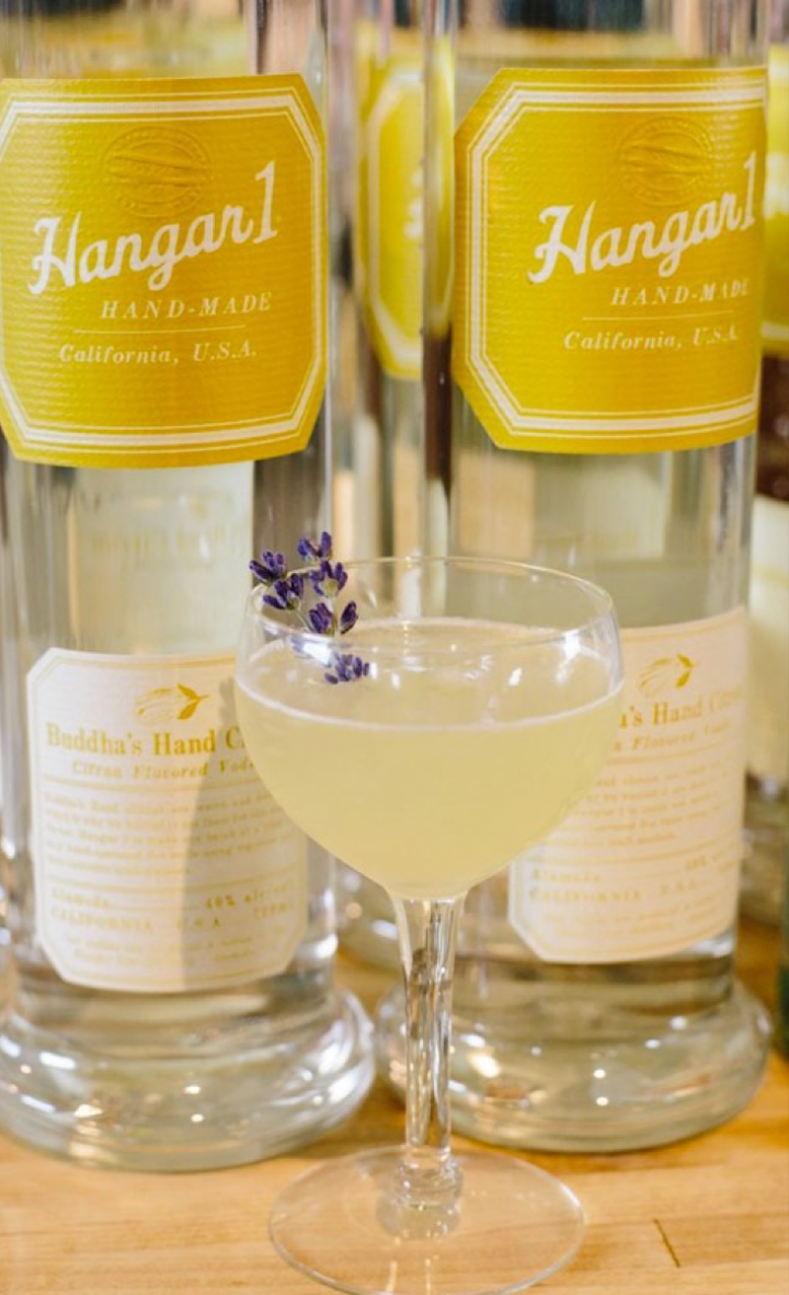 The Lavender Enlightenment mixes Hangar 1 Buddha's Hand Citron vodka, lavender-honey syrup and lemon-infused vermouth.