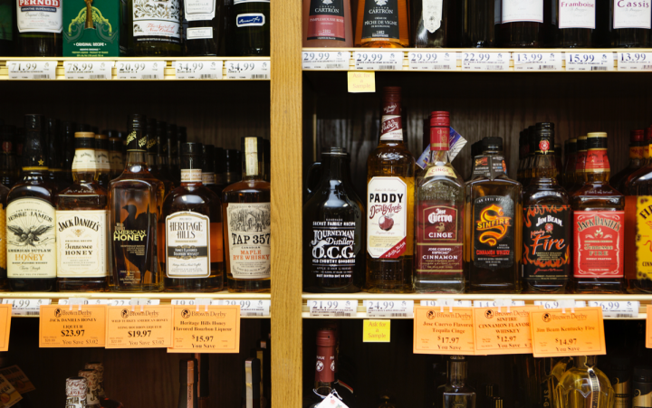Like its locally focused craft beer selection, Brown Derby's spirits SKUs include a host of offerings from Missouri-based producers, as well as proprietary bottlings of single-barrel whiskies and offbeat brands like Monkey 47 Schwarzwald gin.