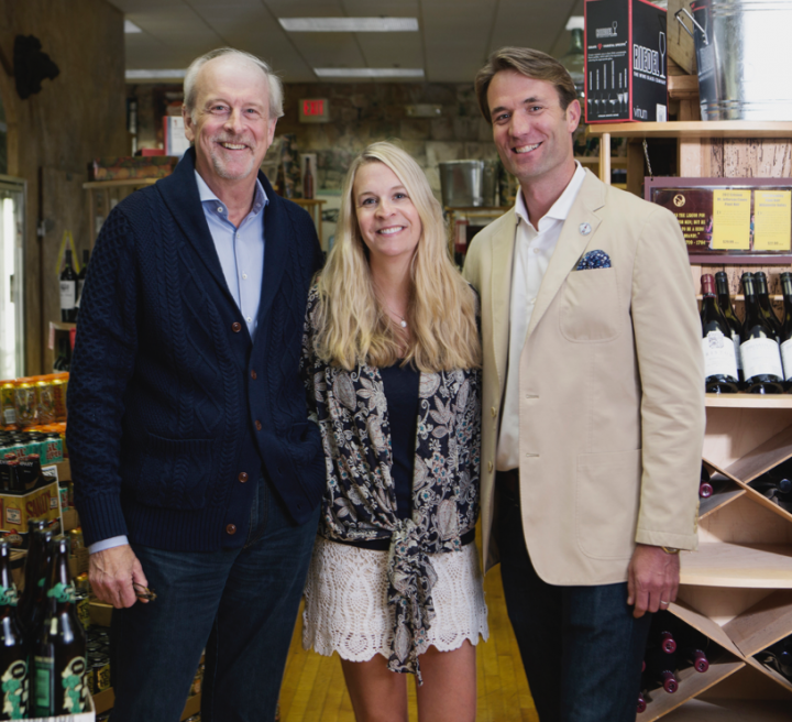 Junge married into the business when he wed Brown Derby founder John Morris' daughter, Jo Ann. These days, Junge's daughter, Jennifer Feuerbacher (center), and her husband, Brad Feuerbacher (right), also play key roles in the business.