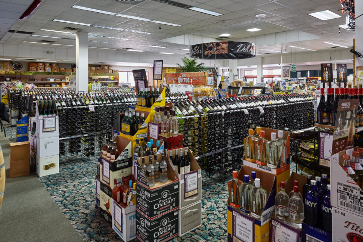 Crown Wine and Spirits puts the focus on high-end wines and established brands, although the chain's knowledgeable staff enjoys the challenge of hand-selling as well. Each of the company's stores offers over 1,200 wine SKUs organized by Old World and New World.