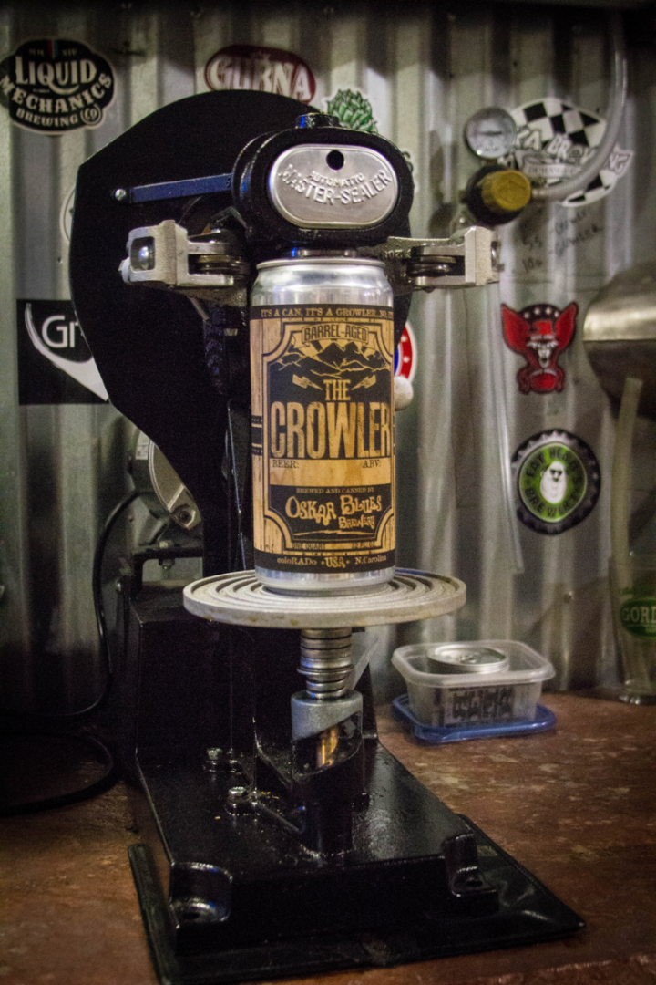 The Crowler offers a portable, recyclable alternative to reusable glass growlers.