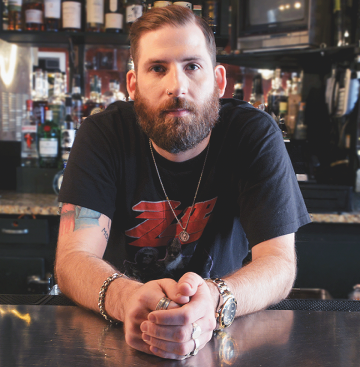 Obadiah Lack creates sophisticated drinks in a dive bar atmosphere at The Randolph in New York City.