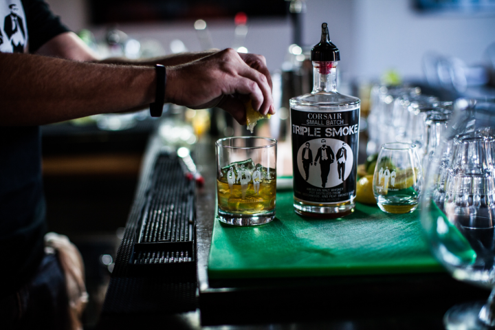 Corsair's products have been well-received by mixologists, who appreciate unique offerings like Triple Smoke malt whiskey.