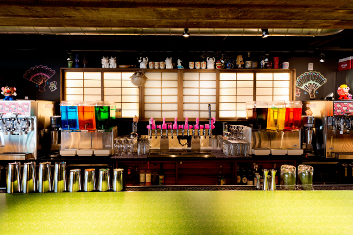 Japanese fare dominates the menu at Hojoko in The Verb Hotel in Boston. The venue serves a wide selection of sakes and Japanese whiskies, as well as specialty cocktails on tap.