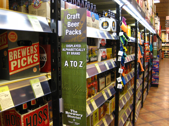 Total Wine & More organizes beer singles into 16 different style groupings at most newer and remodeled locations. The initiative has boosted sales in a segment that naturally encourages consumer experimentation and discovery. However, multipacks continue to be organized by brand name.