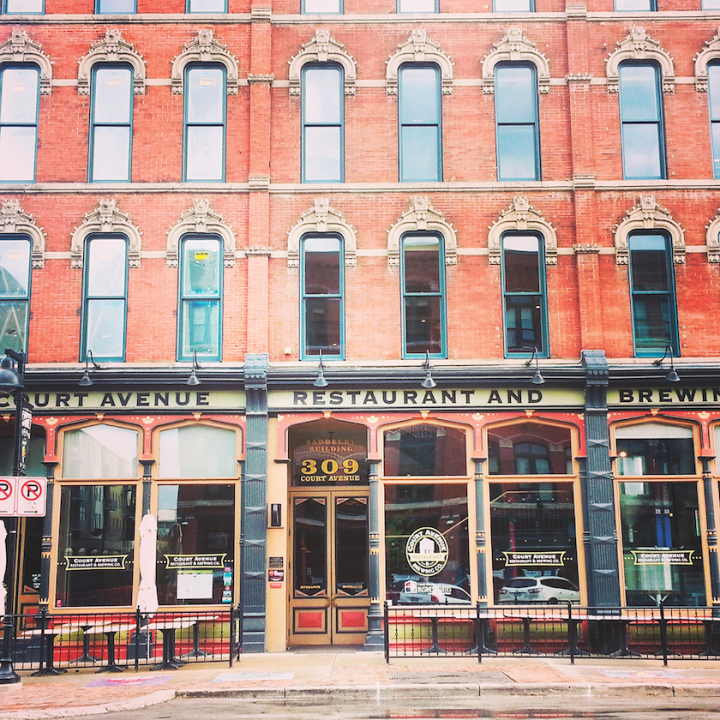 Iowa enjoys the national spotlight during presidential primary season, but the Des Moines scene remains vibrant even when the political cycle winds down. The brewpub Court Avenue Restaurant (above) highlights upscale bar food and drinks.